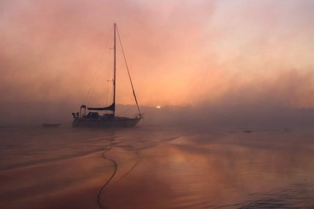 Foggy River Sunrise, Lockwood Folly River, Supply. By Terrah Hewett.