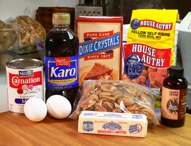 Pecan Pie: You'll need these ingredients.