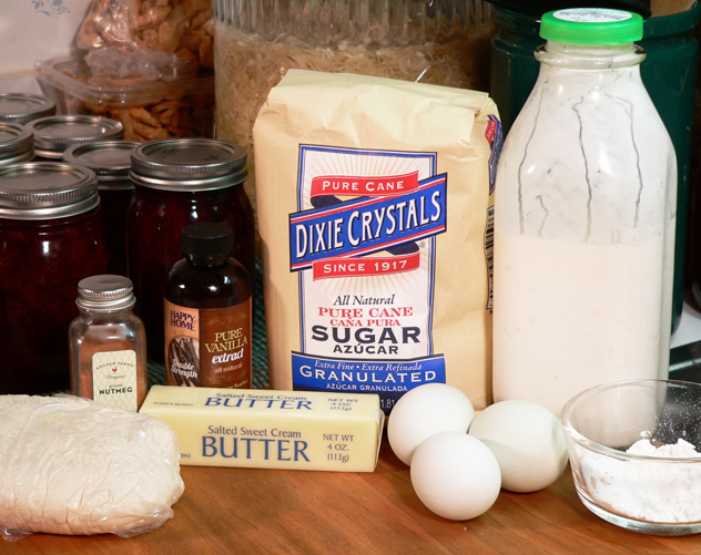 Buttermilk Pie:  You'll need these ingredients.