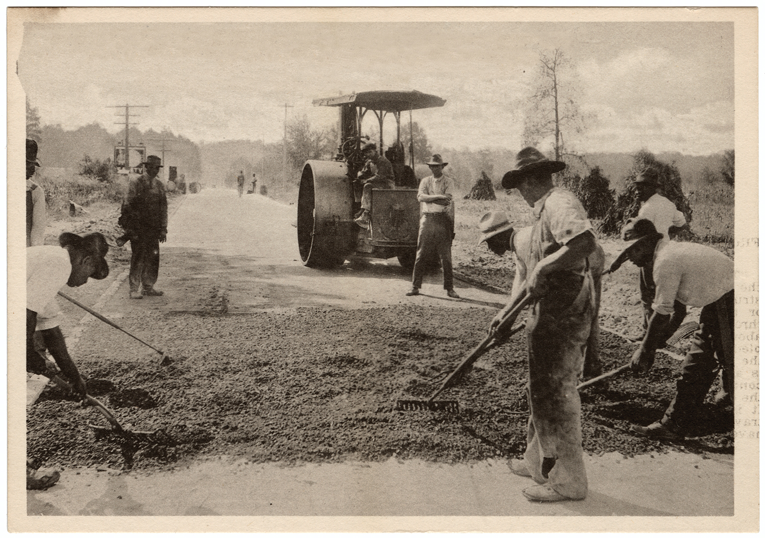 """By the time workers with Robert G. Lassiter and Co. completed a federally funded highway from Durham to Roxboro in the fall of 1919, the News and Observer reported citizens had already """"motored out"""" to see the road."""