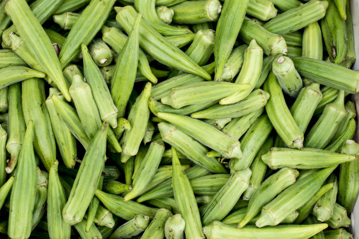 All summer long, farmers markets brim with okra ready for your favorite dishes. Untold bushels of pods will wind up in stews and gumbos, and, of course, chopped and fried. But before your next okra feast, treat yourself to the easiest recipe ever: rinsed and raw. • Photo by Lissa Gotwals.
