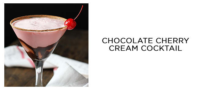 chocolate cherry cream cocktail