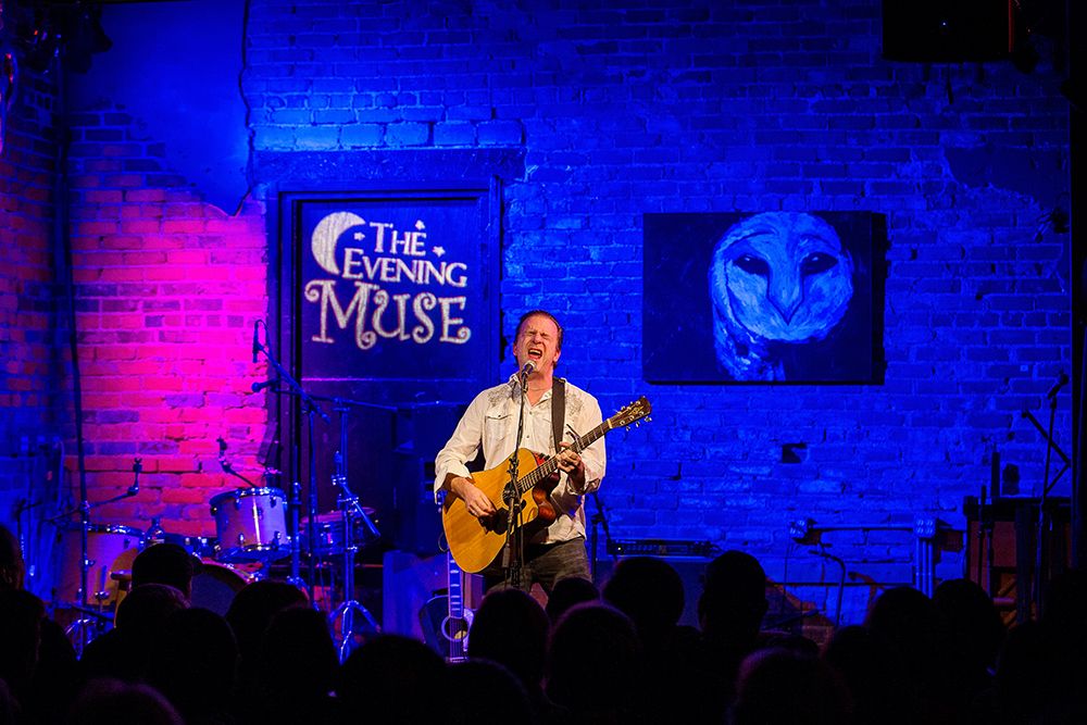 Singer-songwriter Chris Trapper plays a set at the Evening Muse.