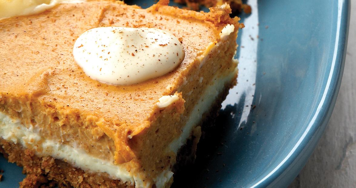 Pumpkin Cheesecake Bars Recipe Our State Magazine