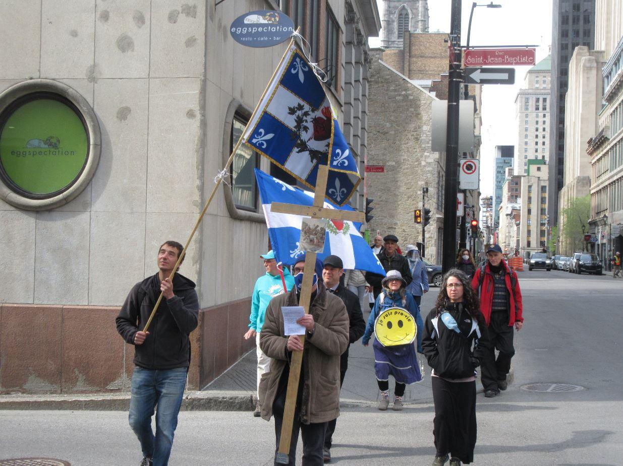 Le pèlerinage à la Vierge et pour l'enfant à naître, à Montréal