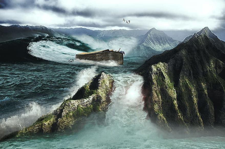 Être comme une arche au milieu d'un déluge de démence