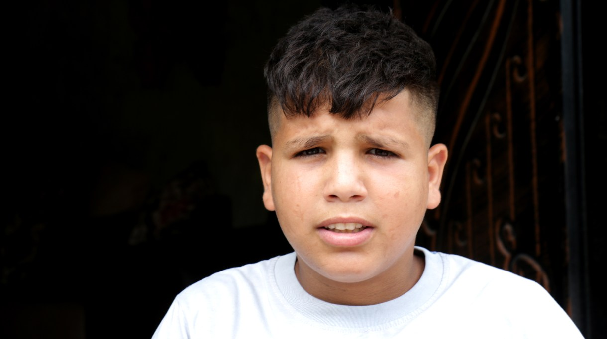 Israeli forces detained and interrogated Khaled Abu Baker, 13, multiple times as part of an Israeli military campaign in the occupied West Bank town of Yabad amounting to collective punishment. (Photo: DCIP / Ahmad Al-Bazz)