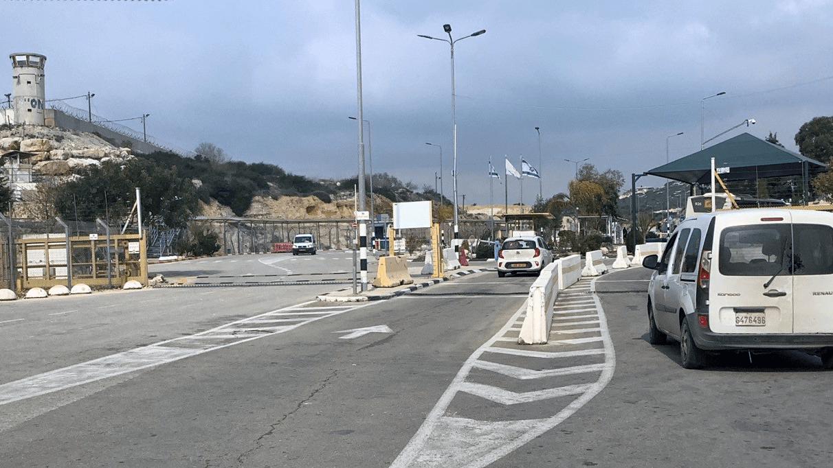 Israel's Barta'a checkpoint, which limits freedom of movement and access to communities in the Barta'a enclave. (Photo: UN OCHA)