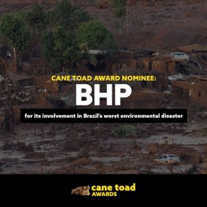 X BHP - for its involvement in Brazil's worst environmental disaster