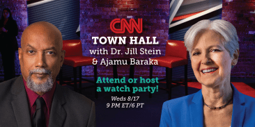 CNN town hall with Dr. Jill Stein, Green Party candidate for president