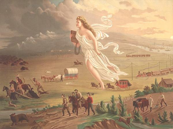 """""""American Progress"""" by John Gast (1872)"""