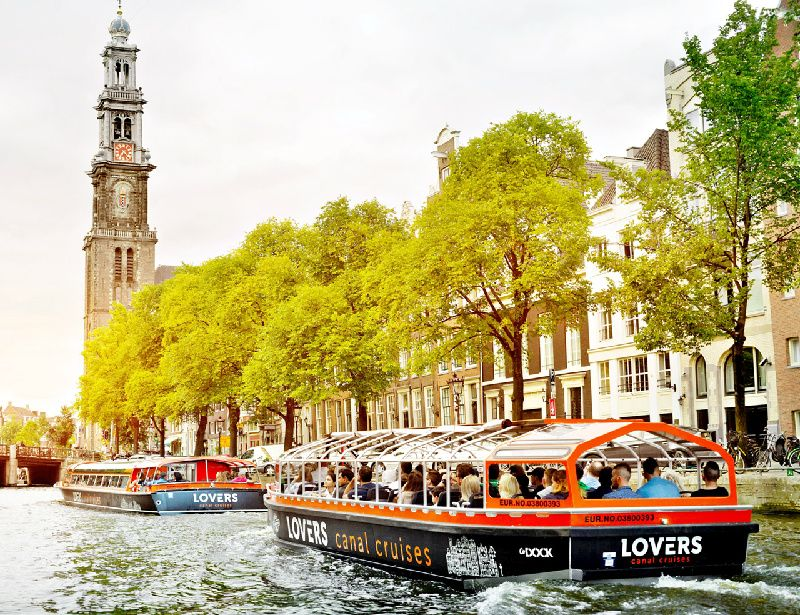 1-Hour Amsterdam Canal Cruise / Semi Open Air