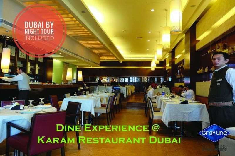 DINE experience on the SKI slopes view with DISCOVER DUBAI by NIGHT