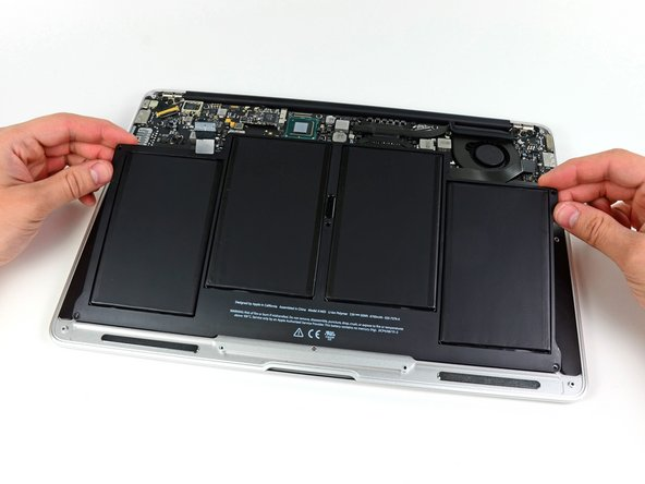 Macbook Air 13 Mitte 2012 Akku Austausch Ifixit Reparaturanleitung