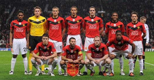 Manchester United team v Wolfsburg 2009 - Planet Football