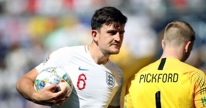 Harry Maguire Jordan Pickford England Switzerland - If England can't always be the best, at least they can be the weirdest