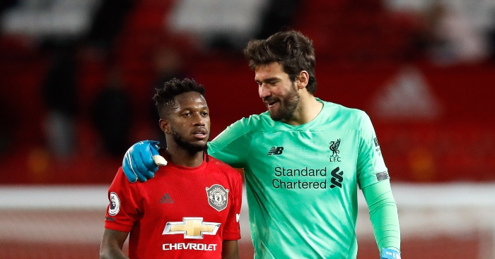 Watch: Liverpool goalkeeper Alisson baptises Fred's wife in swimming pool -  Planet Football