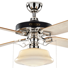 Ceiling Fans   Rejuvenation Heron Ceiling Fan with Low Profile Shade