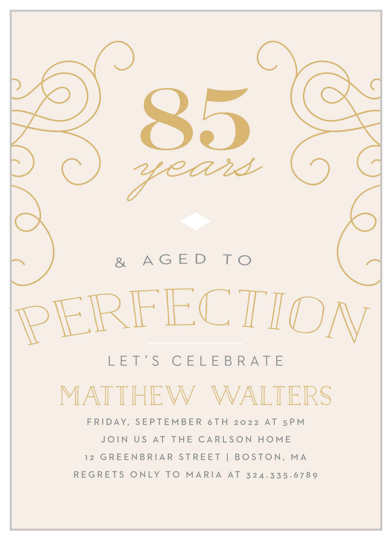 aged to perfection milestone birthday invitations