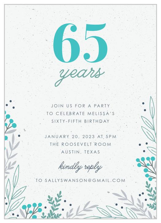65th milestone birthday party