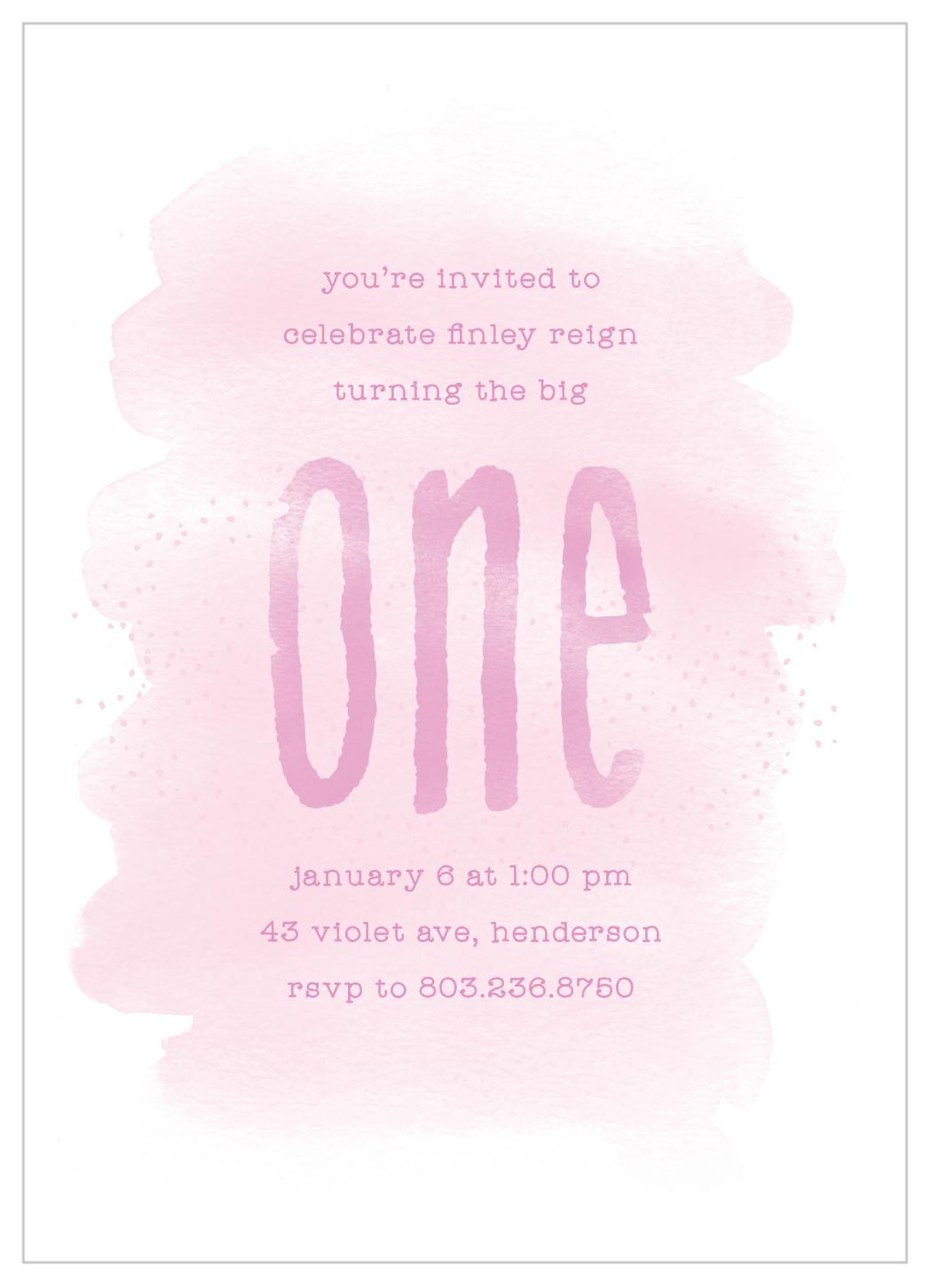 purple one first birthday invitations