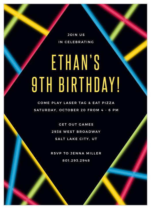 laser tag children s birthday