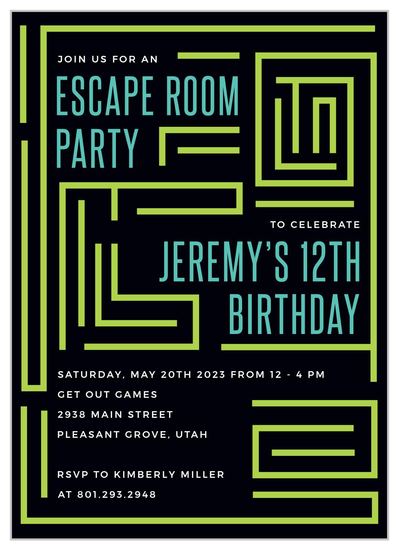 escape room children s birthday invitations