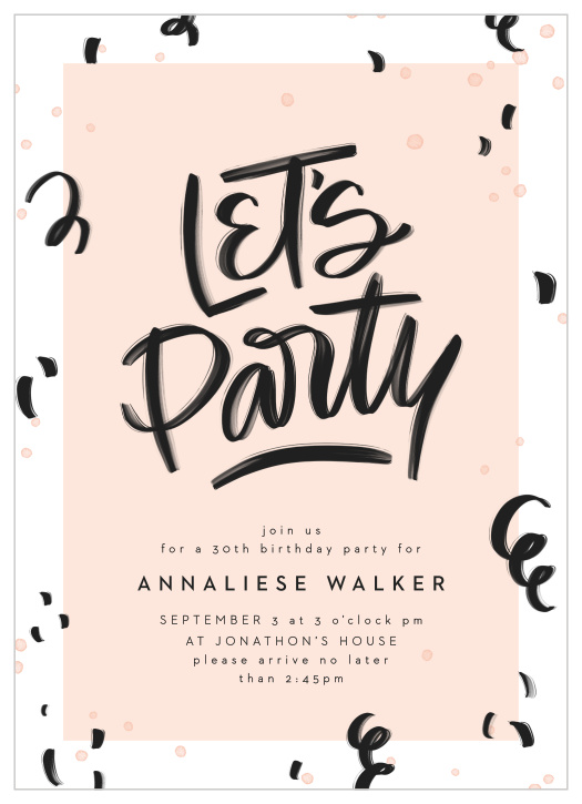 30th Birthday Invitations Design Yours Instantly Online