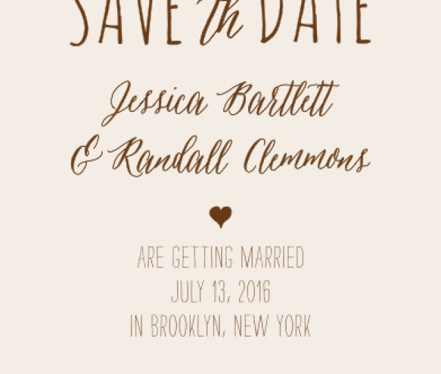 Drawn Together Save The Date Cards