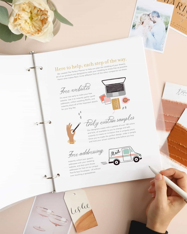 Free Wedding Planner Binder Printable By Basic Invite