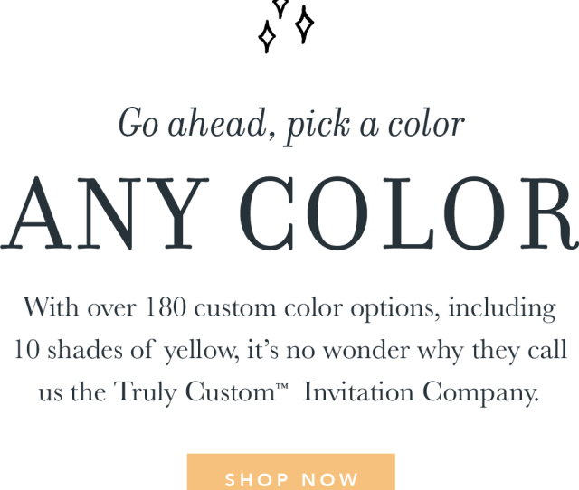 Go Ahead Pick A Color Any Color With Over  Custom Color Options