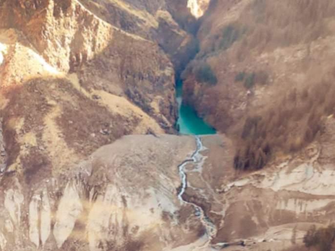 "Image result for ""Dangerous"" Lake Formed By Uttarakhand Avalanche: Satellite View"