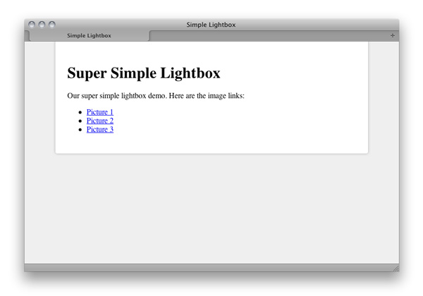 simple lightbox with css