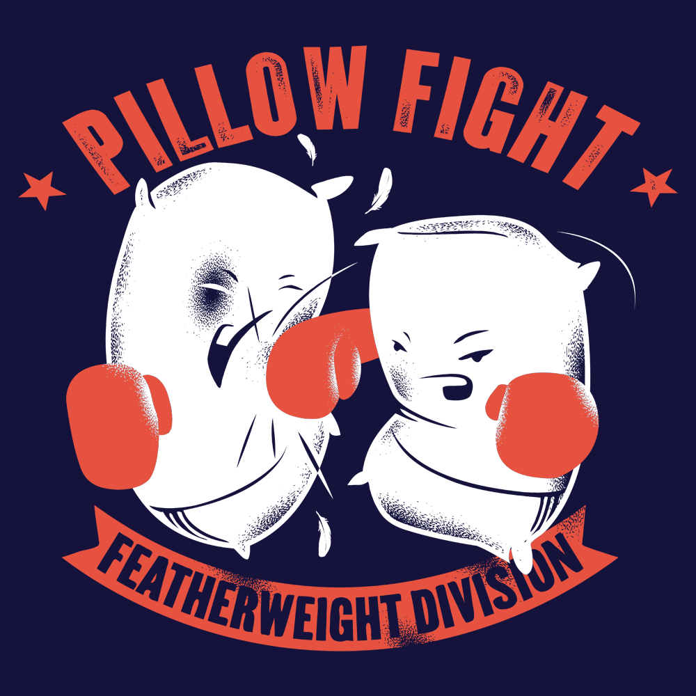 Pillow Fight Featherweight Division T Shirt SnorgTees