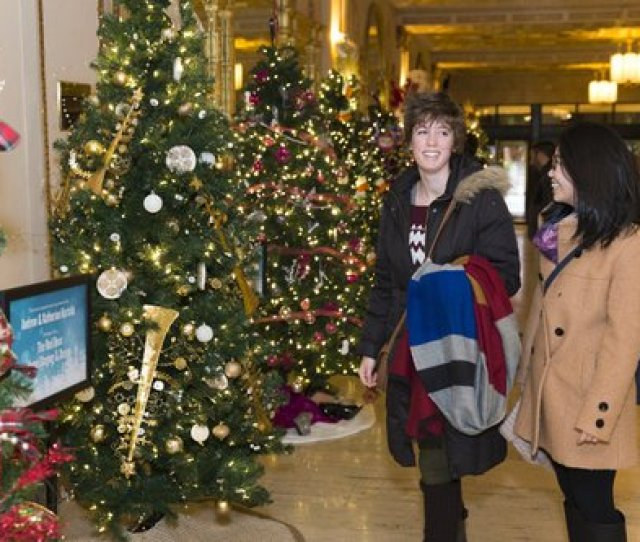 The Allen Theatre In Playhouse Square Is Known For Its Annual Festival Of Trees A