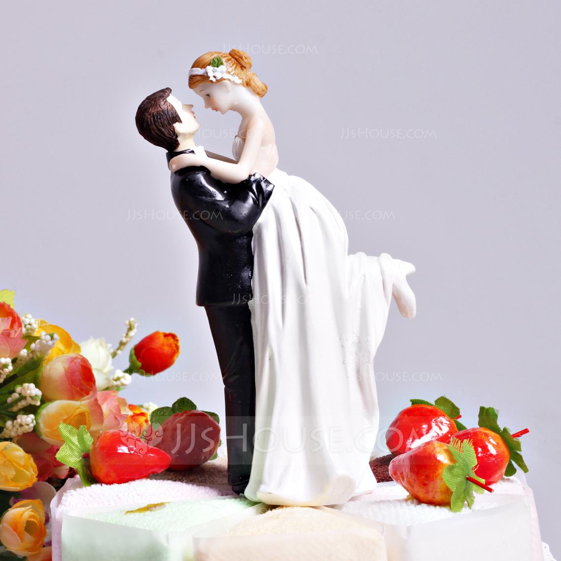 Love Swept Resin Wedding Cake Topper 122036176 JJsHouse