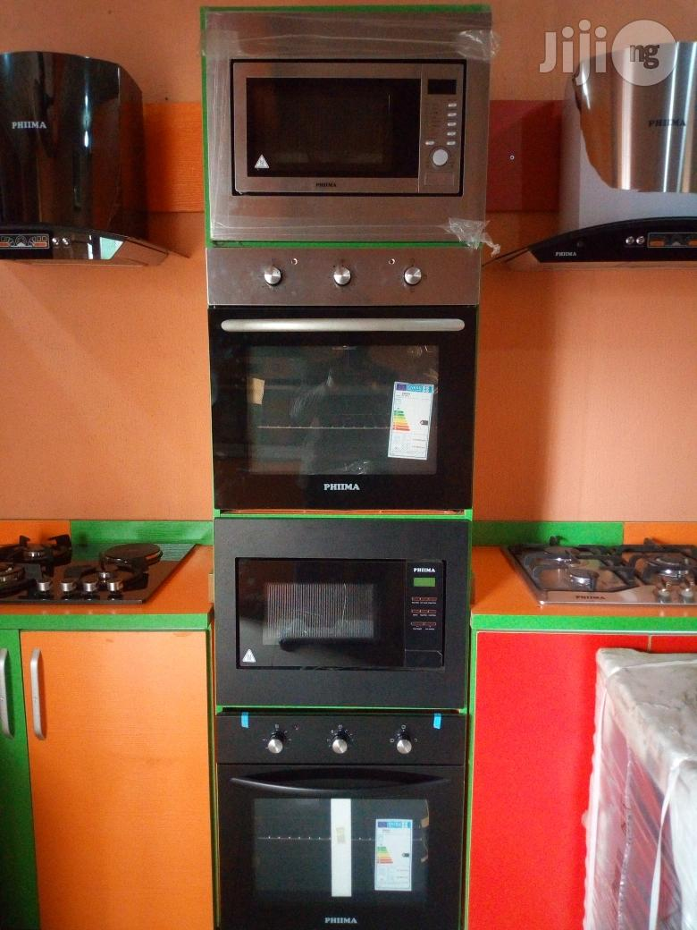 phima slver and black cabinet oven microwave with 2yrs wrty
