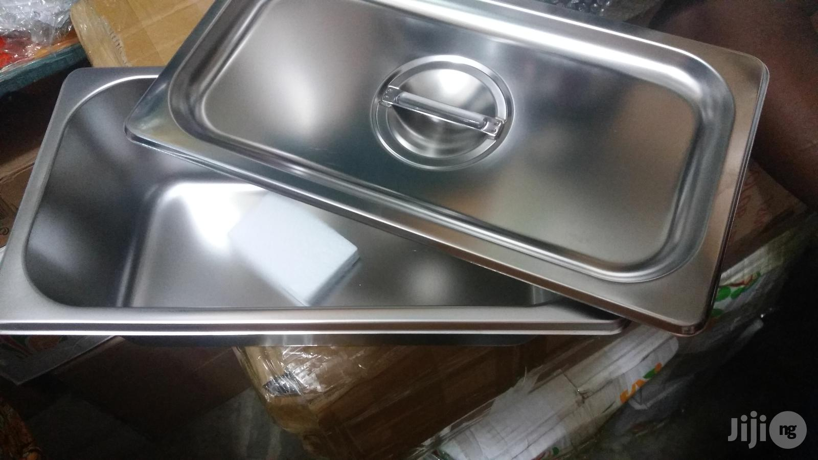 stainless steel chaffing dish pan with cover