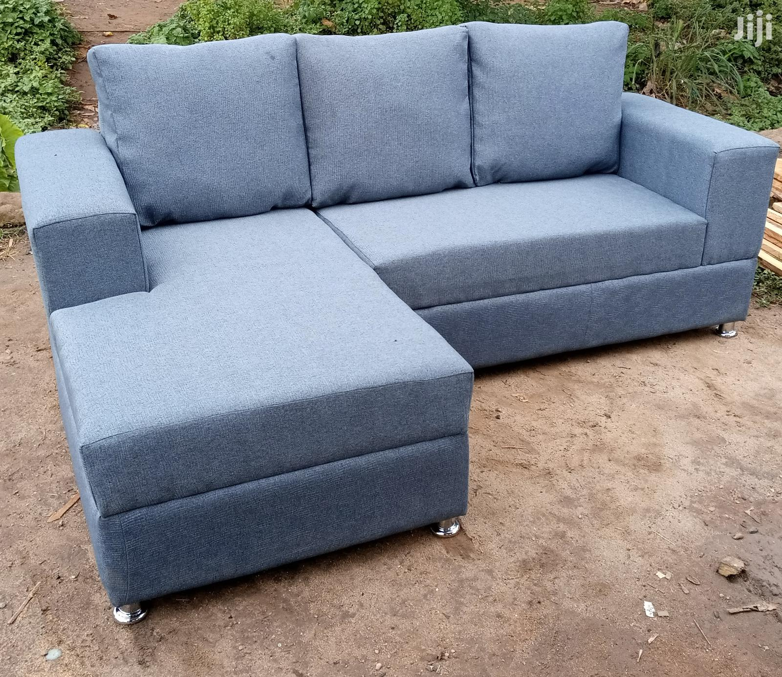 new l shaped sofa chair gray colour fabric