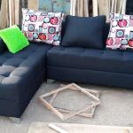 Archive New L Shaped Sofa Chair With Pillows Black Fabric Couches In Ikorodu Furniture Prefix E Jiji Ng