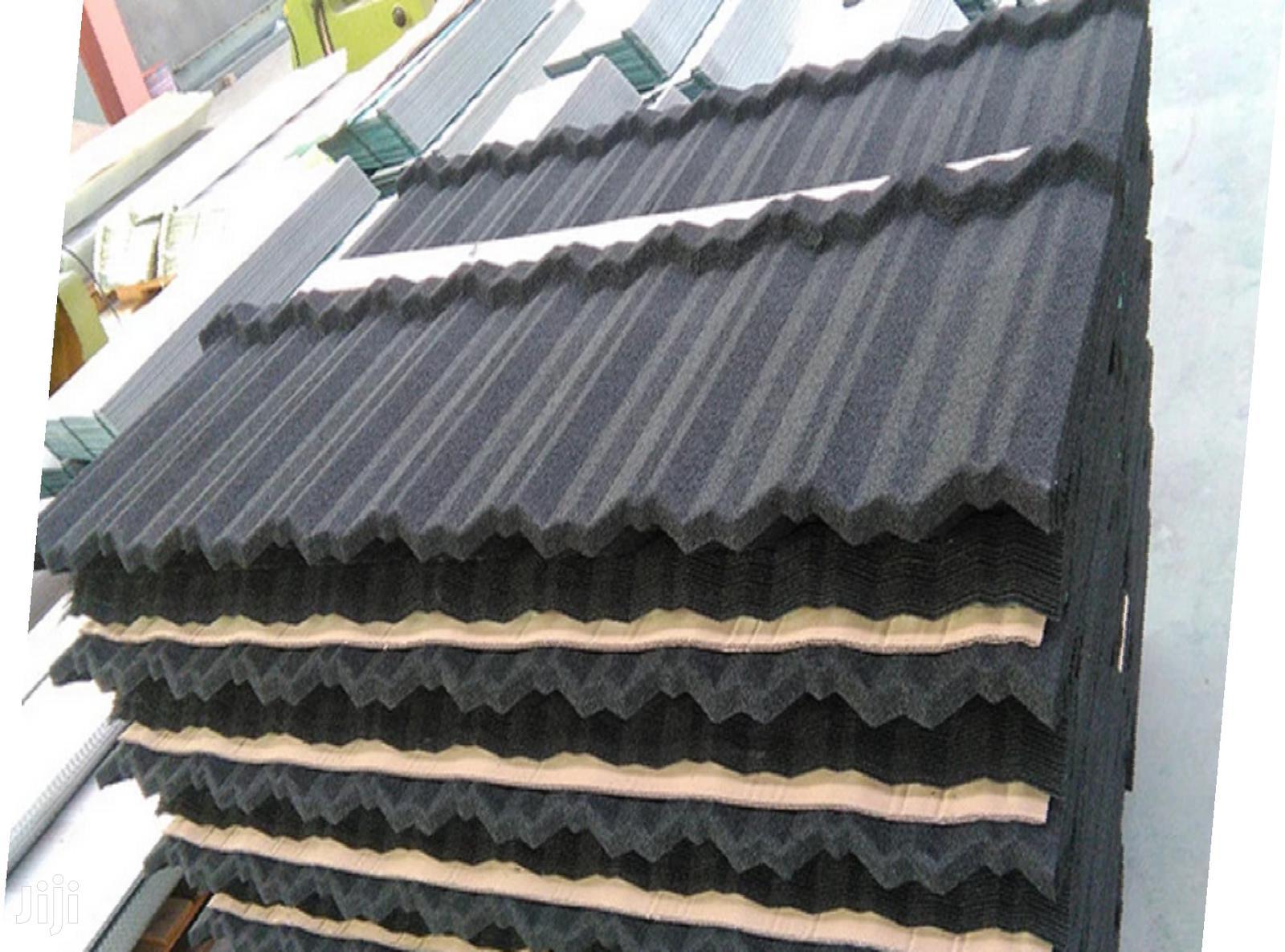 gerard plain black classic stone coated roof tiles