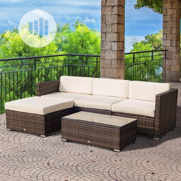 elegant outdoor rattan furniture set sofa
