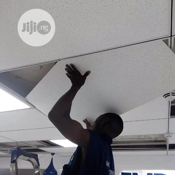 suspended or false ceiling tiles grids installation only