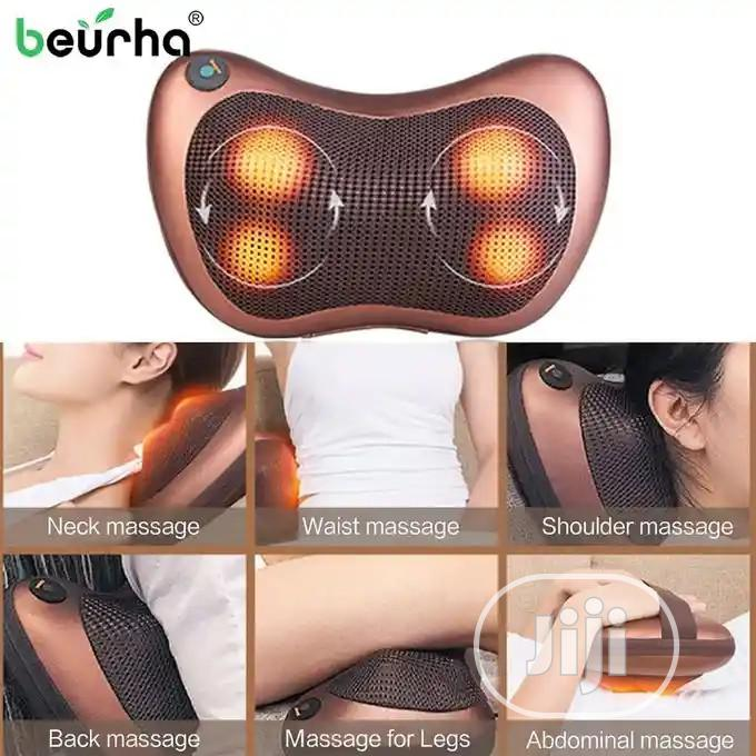 vibrating electric back neck shoulder massage pillow with 4 button