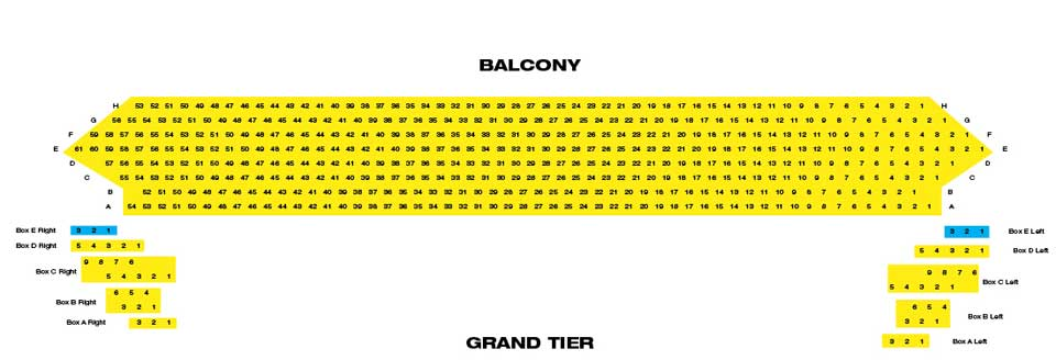 Whitney Seating Chart Hall Louisville