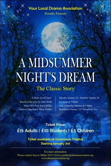 Midsummer Night S Dream Poster