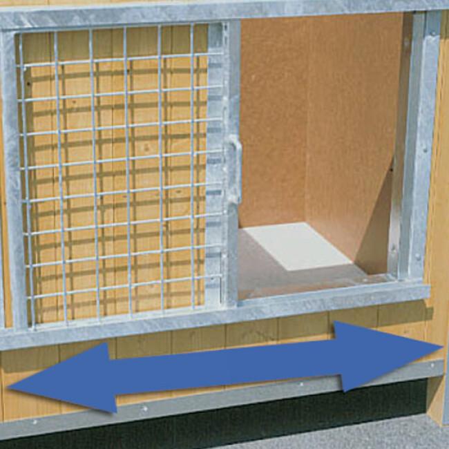 porte grille coulissante pour niche