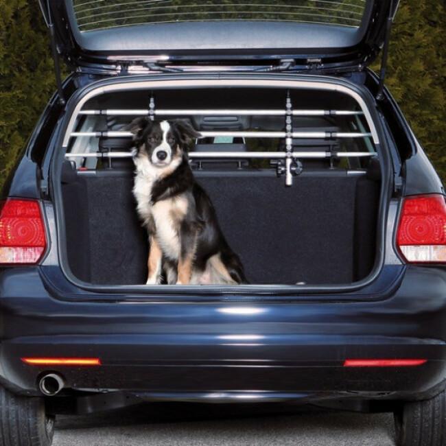 grille de separation de voiture en aluminium trixie pour chien