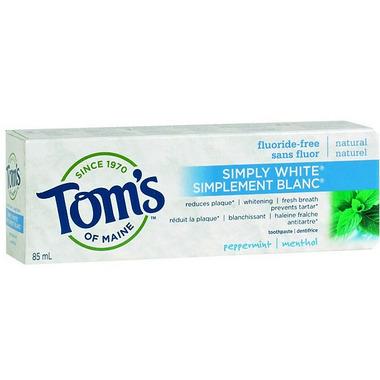 Tom's of Maine Simply White Fluoride-Free Plus Toothpaste