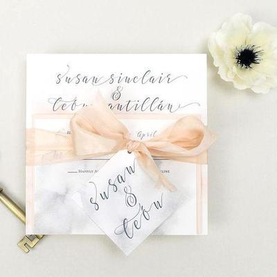 Inspirasi Desain Kartu Undangan Pernikahan Marble 2019 Kekinian